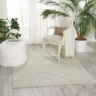 Nourison Austin White Shag Area Rug (3'2 x 5')
