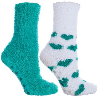 MINXNY Lavender Infused Fuzzy Chenille Socks (2 Pairs)