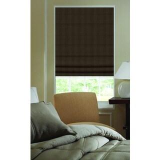 Ashton Stripe Chocolate Brown Polyester 41-inch to 41.5-inch Plain Fold Roman Shades