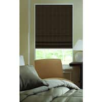 First Rate Blinds Ashton Stripe Chocolate Brown 41-inch to 41.5-inch Plain Fold Roman Shades