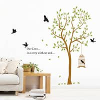 Multicolored Vinyl Tree Thoughts 36-inch x 24-inch Removable Wall Graphic