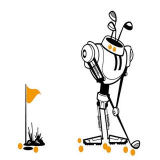 Sports Bots Golf Bot Fore Pennant Banner