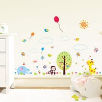 HomeSource Wall Decor A Scene Full of Friends and Scenery 12-inch x 36-inch Removable Wall Graphic