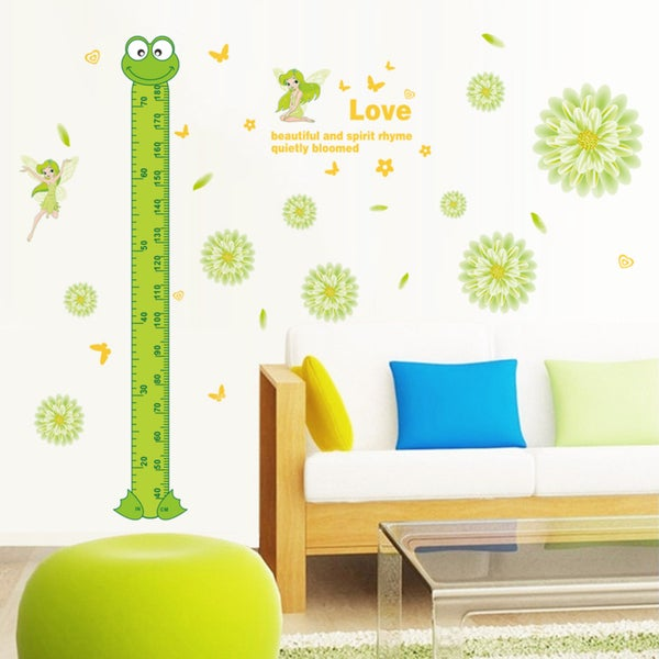 Multi-color Vinyl Froggy Growth 12-inch x 36-inch Removable Wall Graphic