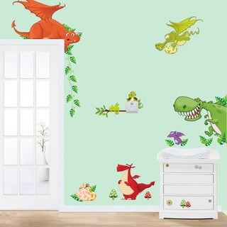Dragon Fun 12-inch x 36-inch Removable Wall Graphic
