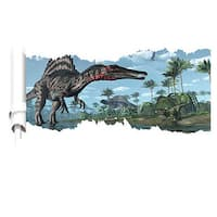 DinoWalls Multicolored Vinyl 'Land of the Lost But Now Found' 36-inch x 19-inch Removable Wall Decal Pennant Banner