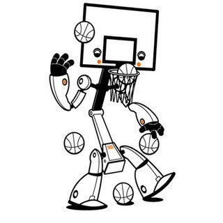 Sports Bots Basketball Wall Decal