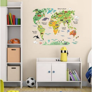'Animals of the World' 24-inch x 36-inch Removable Wall Graphic