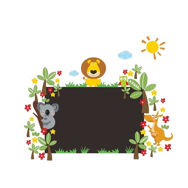 Rectangle Lion Chalkboard 24-inch x 36-inch Removable Wall Graphic