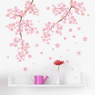 Blossoming Cherry Blossoms 24-inch x 36-inch Removable Wall Graphic