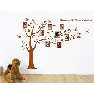 HomeSource Tree of Memory Multicolor 24-inch x 6-inch Removable Wall Graphic Frames