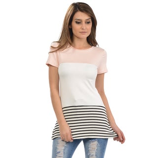 Women's Stripe Scoop Neck Tunic