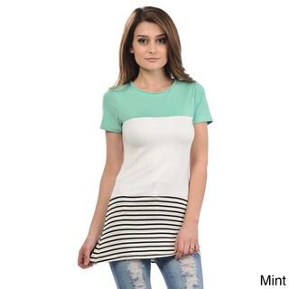 Women's Stripe Scoop Neck Tunic