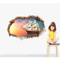 'Ship Through the Wall' 24-inch x 36-inch Removable Wall Graphic
