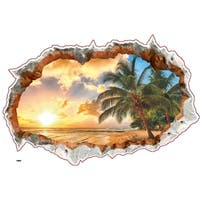 'Breakthrough into Paradise' 24-inch x 36-inch Removable Wall Graphic