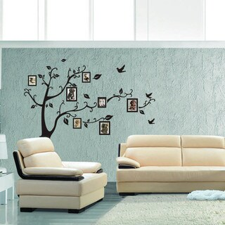 Multicolor Vinyl Frame Showcase Tree 24-inch x 36-inch Removable Wall Graphic