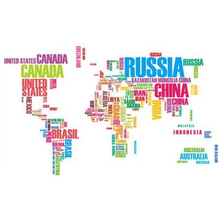 World of Words 49-inch x 30-inch Removeable Wall Decal