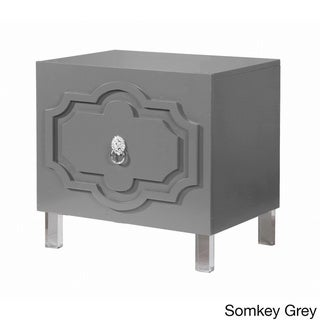 Chic Home Fez Lacquer Finish Lucite Leg Side Table