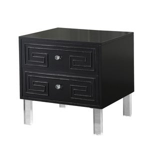 Chic Home Plato Lacquer Acrylic/ MDF Lucite Leg Side Table