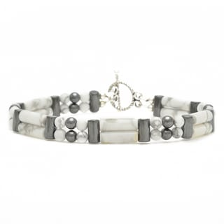 Healing Stones for You Howlite Double Power Bracelet 'Learn Patience'