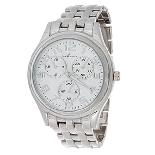 Via Nova Boyfriend Women's Silver Case and Silver Strap Watch