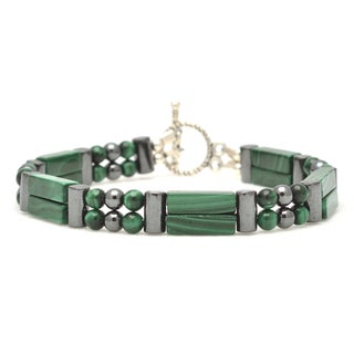 Healing Stones for You Malachite Double Power Bracelet 'Emotional Healing'