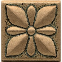 Bedrosians Jasmine Bronze Metal Resin Tile (1 Piece)