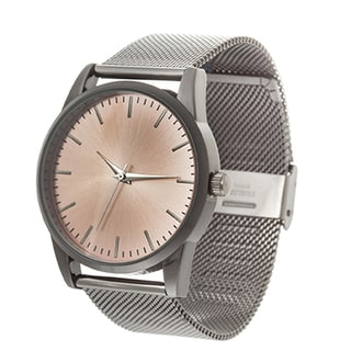 Xtreme NYC Women's Bkack Case/Rose Dial with Black Mesh Alloy Strap Watch