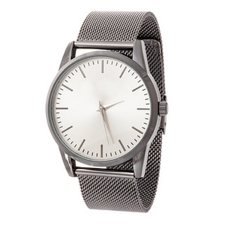 Xtreme NYC Women's Bkack Case/Silver Dial with Black Mesh Alloy Strap Watch