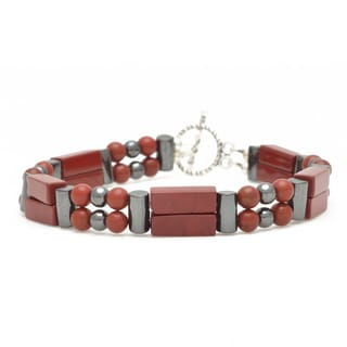 Healing Stones for You Red Jasper Double Power Bracelet 'Enhances Creativity'