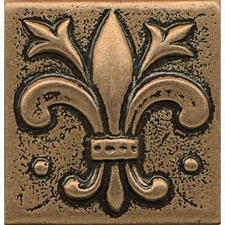 Shop Bedrosians Fleur De Lis Bronze Metal Resin Tile 1