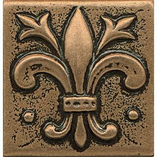 Bedrosians Fleur-de-lis Bronze Metal Resin Tile (1 Piece)