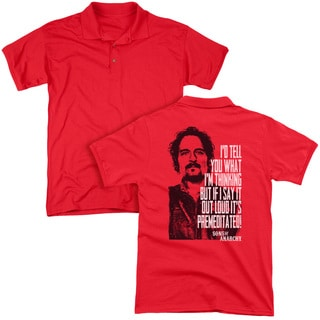 Sons Of Anarchy/With Tig (Back Print) Mens Regular Fit Polo in Red