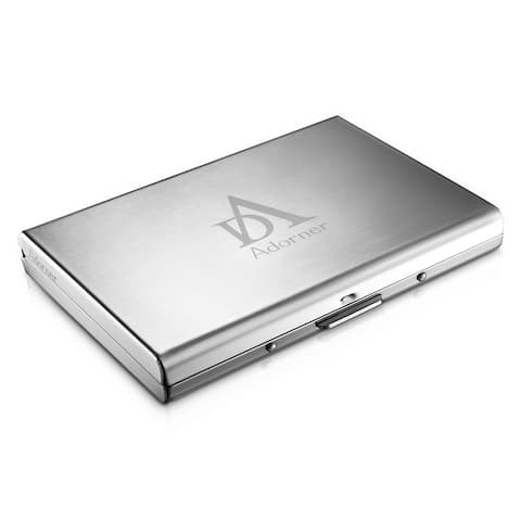 Buy metal business card holders online at overstock our best adorner credit card holder stainless steel credit card wallets colourmoves