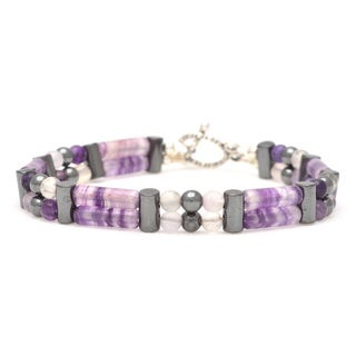 Healing Stones for You Fluorite Double Power Bracelet 'Pain Relief'