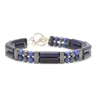 Healing Stones for You Dumortierite Double Power Bracelet 'Attract Your Soulmate'