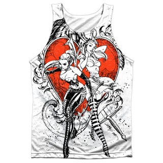 Zenescope/Bw Heart Adult 100-percent Poly Tank Top in White