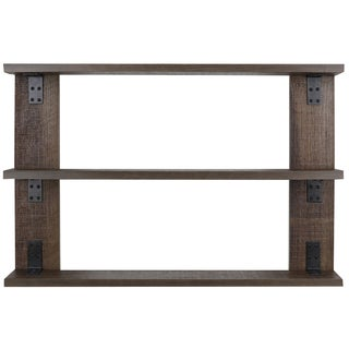 Hobbitholeco. Contemporary Wood/Metal 36-inch x 24-inch Tri-Shelf