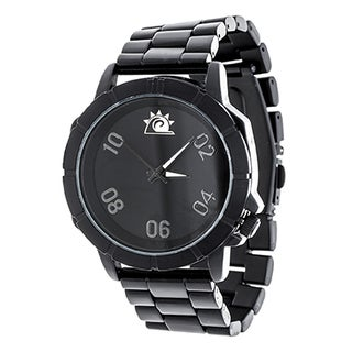 Zunammy Men's Black Case and Dial / Black Alloy Strap Watch