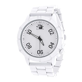 Zunammy Men's White Case and Dial / White Alloy Strap Watch