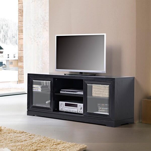Tv Stand Black Sliding Door 54
