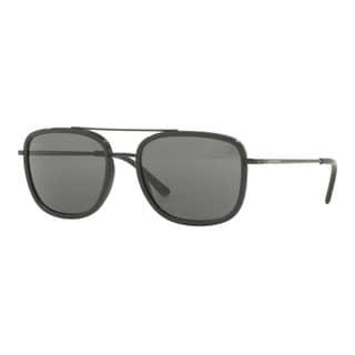Burberry Men's BE3085Q 10075V Black Metal Square Sunglasses