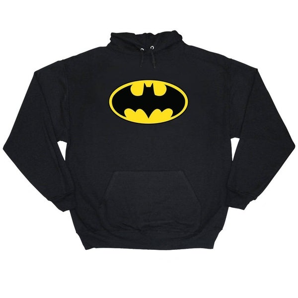 Batman Bat Logo Mens Black Pullover Hoodie