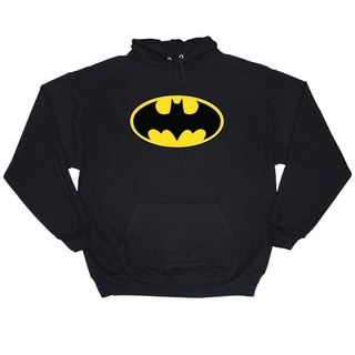 Batman Bat Logo Men's Black Pullover Hoodie