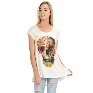 Women's Skull Floral Detail Top
