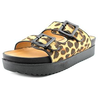 Penny Loves Kenny Women's Mystic Brown Textile Basic Sandals