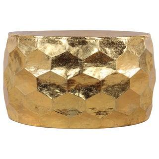 Gemoratic Hammered Gold Leaf Metal Coffee Table