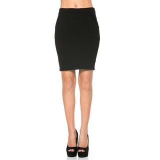 Women's Black Pencil Skirt