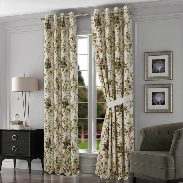 Tribeca Living Maui Cotton Grommet Top Lined Curtain Panel