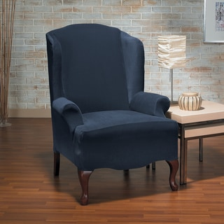 CoverWorks Eastwood 1-piece Classic Stretch Wing Chair Slipcover
